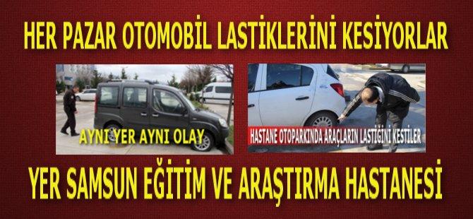 Samsun'da Her Pazar Araç Lastiklerini Kesiyorlar