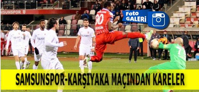 Samsunspor- Karşıyaka Maçından Kareler