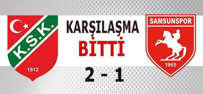Samsunspor - Karşıyaka Maç Sonucu : 1 - 2