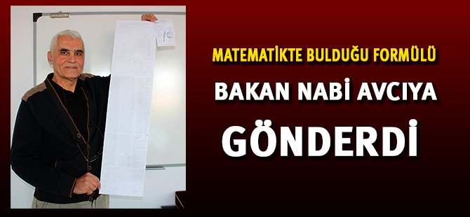 Samsun'lu Öğretmen Matematik Formülü Buldu, Bakana Gönderdi