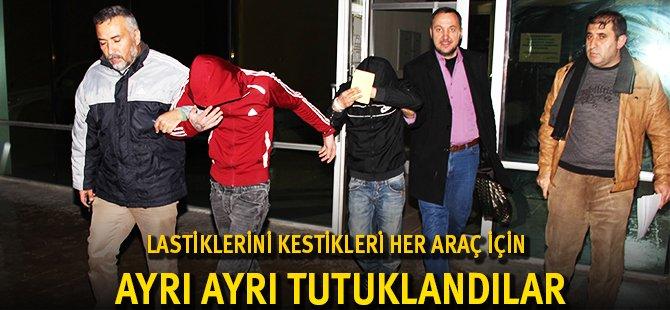 Samsun'da 16 Lastik Kesme İçin Tek Tek Tutuklama