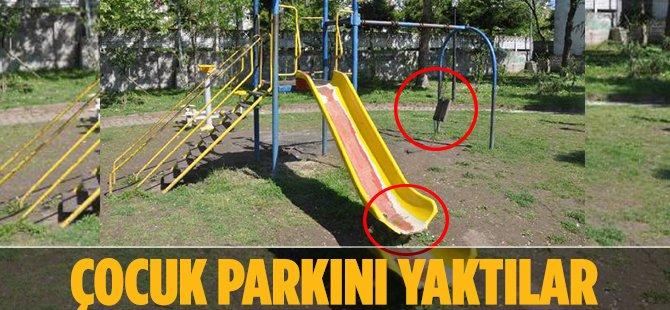 Samsun'un Terme İlçesinde Oyun Parkını Yaktılar