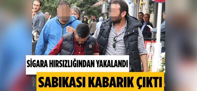 Samsun'da Sigara Hırsızlığından Yakalanan Zanlının Sabıkası Kabarık Çıktı