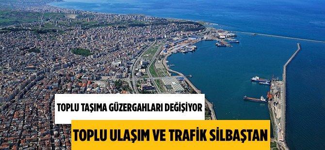 Samsun'da Toplu Taşıma Güzergahları Değişiyor