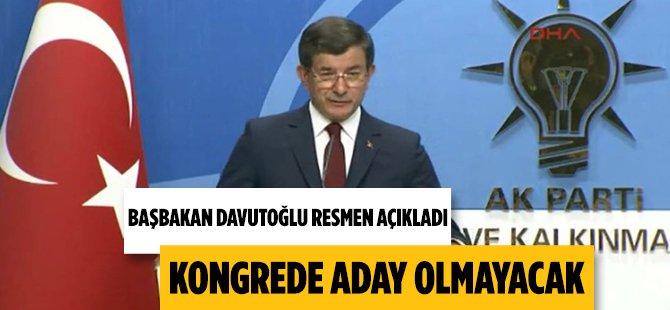 Başbakan Ahmet Davutoğlu Görevlerini Bıraktığını Açıkladı