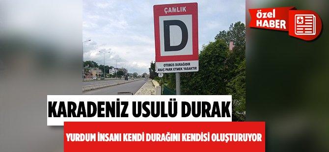 Samsun'da Bir İlginç Durak Çamlık Otobüs Durağı
