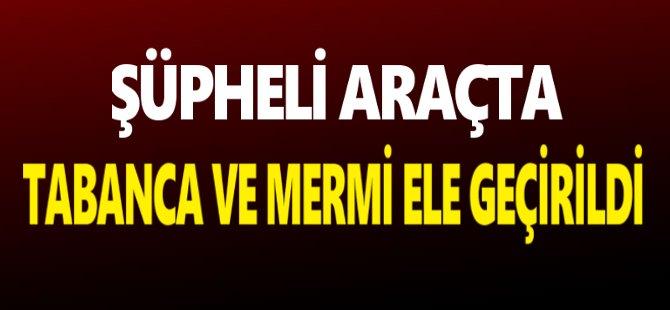 Samsun'da Şüpheli Araçta Tabanca Ve Mermi Ele Geçirildi