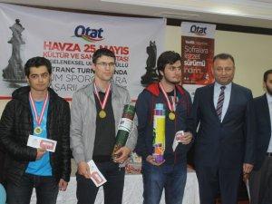 Havza'da Ulusal Satranç Turnuvasının Ödül Töreni
