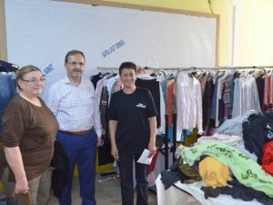 Bafra Belediye Başkanı Şahin 'Sosyal Market'i Ziyaret Etti