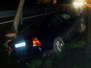 Fatsa'da Otomobil Refüje Çarptı: 6 Yaralı