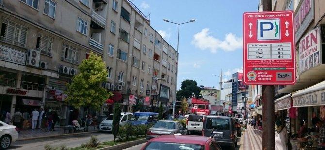 Samsun'da Parkomat Uygulaması Bayramda Ücretsiz
