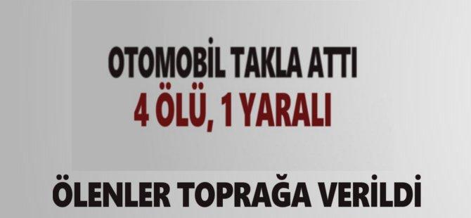 Samsun'da Trafik Kazasında Ölen 5 Kişi Toprağa Verildi