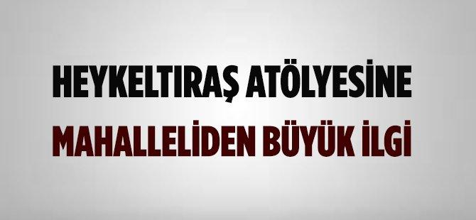 Samsun'da Heykeltıraş Atölyesine Mahalleliden Büyük İlgi