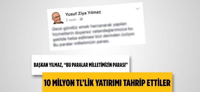 Samsun Büyükşehir Belediye Başkanı Yılmaz 10 Milyon TL Yatırım Yapılan Miliç Çamlığını Tahrip Edenlere Sert Çıktı