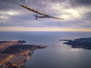 Güneş Enerjili Uçak Tarihi Son Durağına Bir Adım Daha Yaklaştı