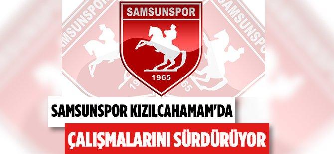 Samsunspor Kızılcahamam'da Çalışmalarını Sürdürüyor