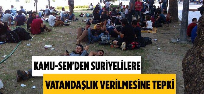 """Kamu-Sen Samsun İl Temsilcisi Levent Kuruoğlu """"Yardıma Evet Vatandaşlığa Hayır """""""