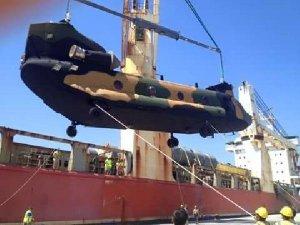 İlk Chinook Helikopteri Teslim Edildi