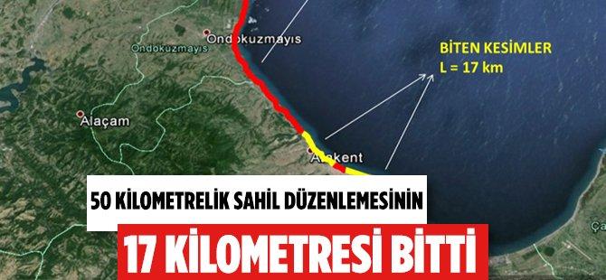 Samsun'da 50 Kilometrelik Sahil Düzenlemesinin 17 Km'si Tamam