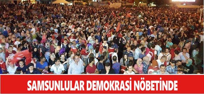 Samsunlar Demokrasi Nöbeti İçin Yine Sabahladılar