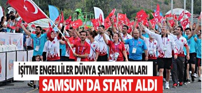 İşitme Engelliler Dünya Şampiyonaları Samsun'da Start Aldı