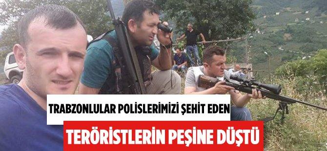 Trabzon Maçka'da Halk Terörist Avında