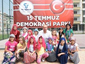"""Samsun'un Tekkeköy İlçe Belediyesi'nden """"15 Temmuz Demokrasi Parkı"""""""