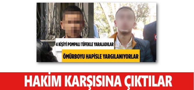 Samsun'da Tüfekle 4 Kişiyi Yaralayanlar Hakim Karşısına Çıktı