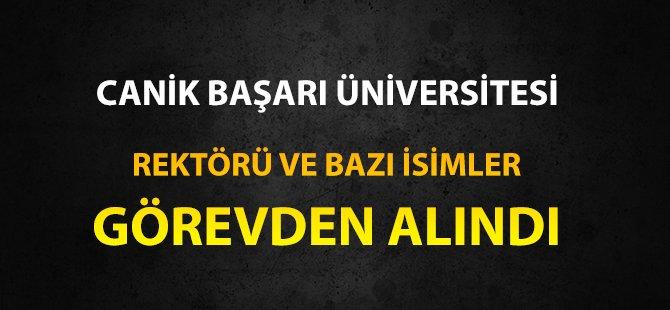 Samsun Canik Başarı Üniversitesi Rektörü Değişti