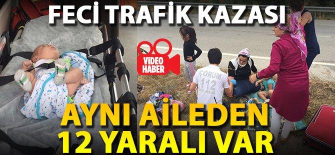 İzmir'den Tokat'a Giden Aile Kaza Yaptı Çok Sayıda Yaralı Var