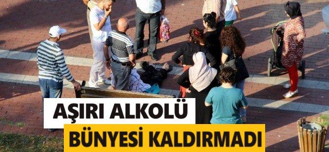 Samsun'da Alkol Alan Şahıs Parkta Düşüp Kaldı