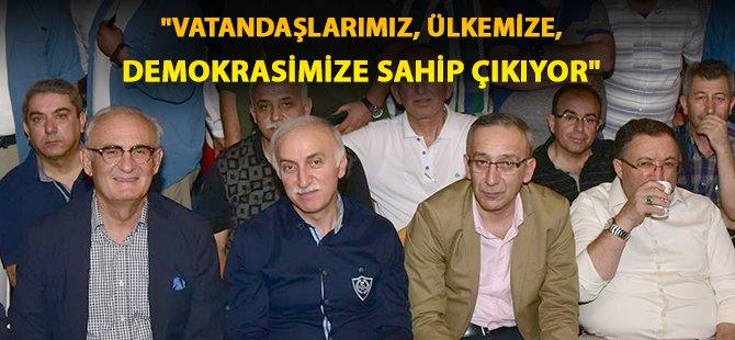 """Samsun Büyükşehir Belediye Başkanı Yılmaz;  """"Vatandaşlarımız, Ülkemize, Demokrasimize Sahip Çıkıyor"""""""