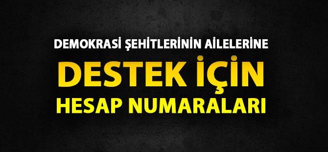 Türk Demokrasi Şehitlerinin Ailelerine Yardım Kampanyası Başlatıldı
