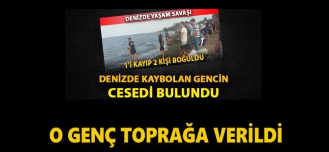 Samsun'da Boğulan Genç Toprağa Verildi