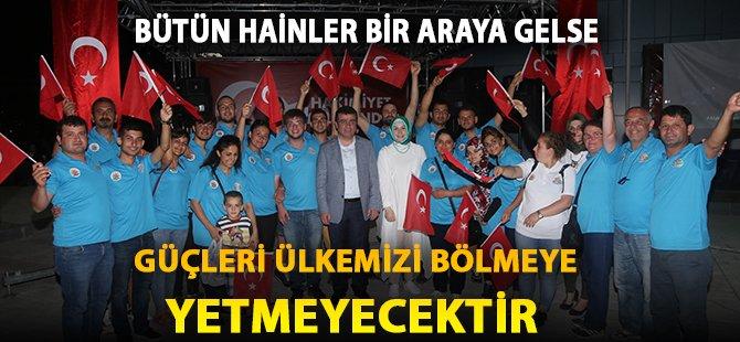 """Samsun'un Atakum İlçe Belediye Başkanı Taşçı; """"Bütün Hainler Bir Araya Gelse Güçleri Ülkemizi Bölmeye Yetmeyecektir"""""""