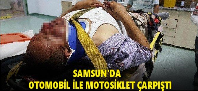 Samsun'da Otomobil İle Motosiklet Çarpıştı: 1 Yaralı