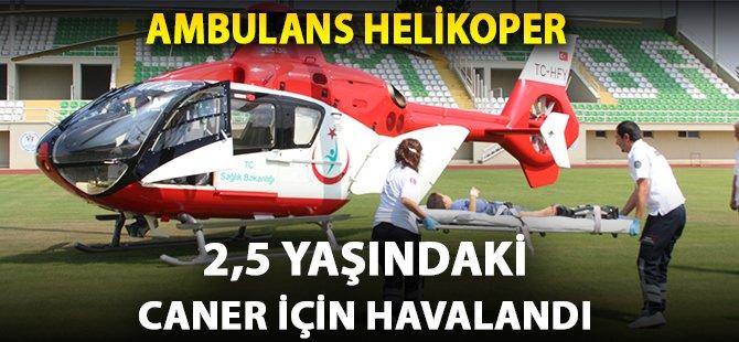 Samsun'da Yüksekten Düşen 2,5 Yaşındaki Çocuğun Yardımına Ambulans Helikopter Yetişti
