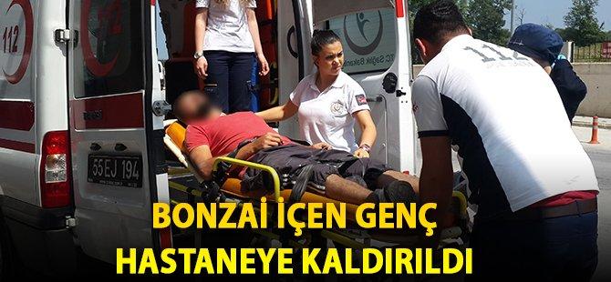 Samsun'da Bonzai İçen Genç Hastaneye Kaldırıldı