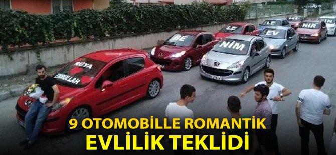 Samsun'da 9 Otomobille Evlilik Teklifi