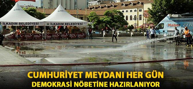 Samsun  Cumhuriyet Meydanı Demokrasi Nöbetine Hazırlıyorlar!