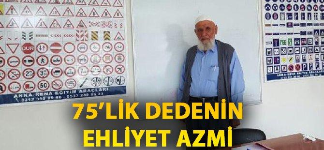 Samsun'da 75 Yaşındaki Dedenin 'B' sınıfı Ehliyet Mutluluğu