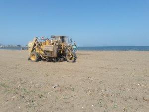 Samsun Terme'de Sahil Temizliğine Devam Ediliyor