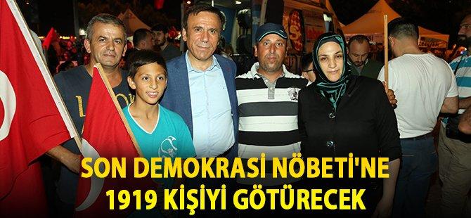 Samsun'un Canik İlçe Belediye  Başkanı Genç  Son Demokrasi Nöbeti'ne 50 Otobüsle 1919 Kişiyi Götürecek