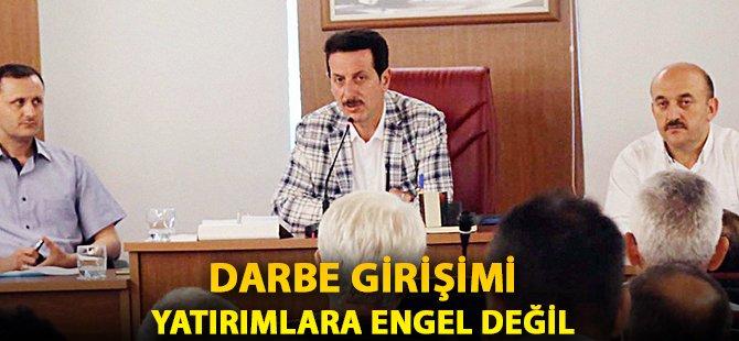"""Samsun'un İlkadım İlçe Belediye Başkanı Tok; """"Darbe Girişimi Yatırımlara Engel Değil"""""""