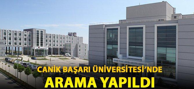 Samsun Canik Başarı Üniversitesi'nde Polis Arama Yaptı