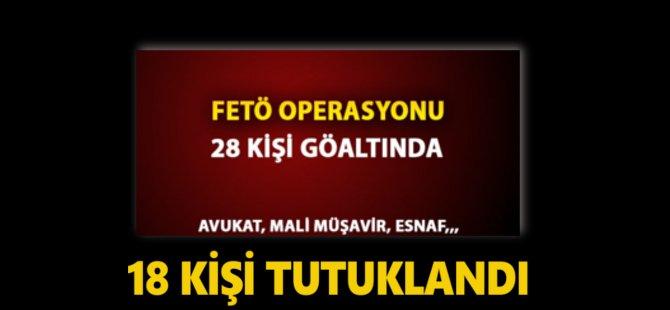 Samsun'da FETÖ Soruşturmasında 18 Kişi Tutuklandı