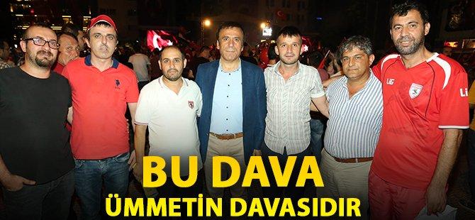 Samsun'un Canik İlçe Belediye Başkanı Genç,'Bu Dava Ümmetin Davasıdır'
