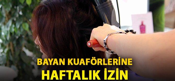Samsun'da Bayan Kuaförlerine Haftalık İzin Verilecek