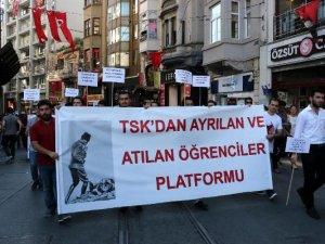 TSK'dan Atılan FETÖ Mağduru Öğrencilerden Yürüyüş