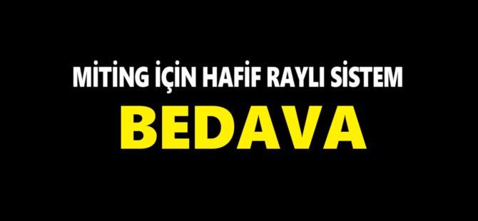 Samsun Büyükşehir Belediyesi Miting İçin Tramvay Seferlerini Ücretsiz Yaptı